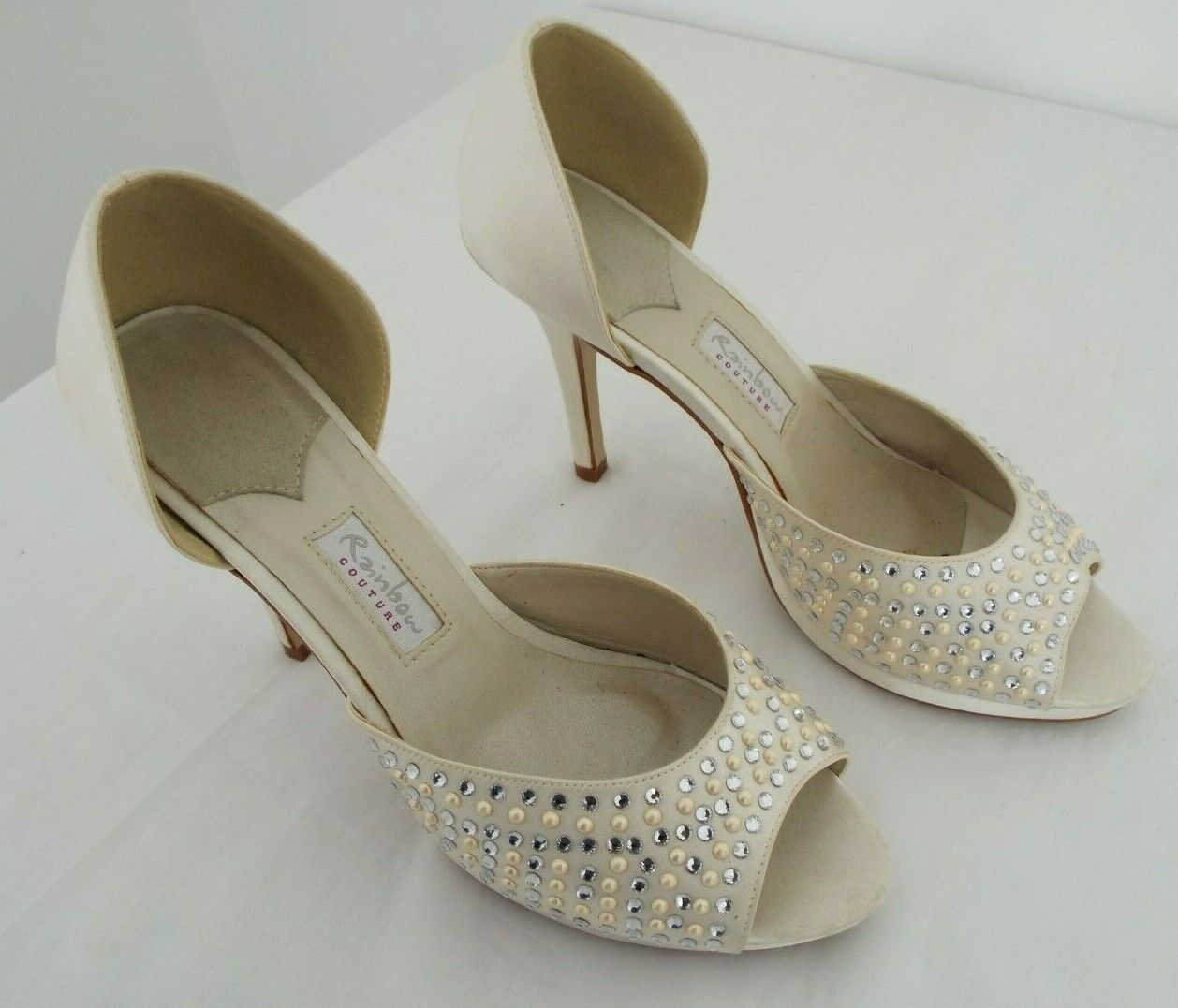 Rainbow couture bridal shoes size 6