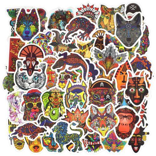 10pcs American Indian Totem Style Sticker Spirit Animal Skate Graffiti Laptop