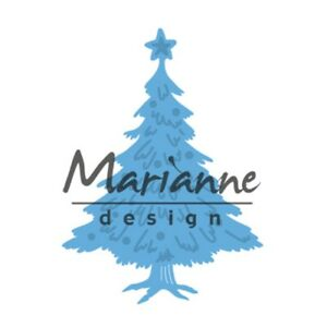 Marianne-Creatables-Die-Cutting-Stencil-Tiny-039-s-Christmas-Tree-Decorated-LR0491