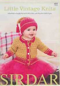 Sirdar-Little-Vintage-Knits-Snuggly-Baby-Bamboo-DK-Book-405-Patterns-0-7-years