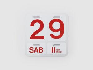 Calendario Perpetuo Da Parete.Dettagli Su Danese Milano Formosa Calendario Perpetuo Da Parete Design Enzo Mari 1963