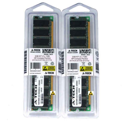 2GB KIT 2 x 1GB HP Compaq Pavilion A1114.fr A1114n A1117cl PC3200 Ram Memory