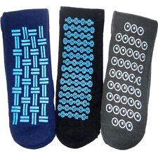 3 X Hombres Térmico Salón Zapatilla Pinza Calcetines Cama caliente de invierno Antideslizante Antideslizante
