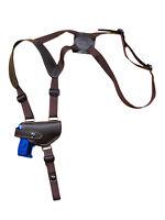 Barsony Brown Leather Shoulder Holster Beretta, Taurus Mini-pocket 22 25 380