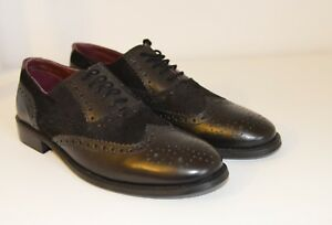 Brogues London Shoes Uk amp; Smart Suede Formal Leather 8 Oxford Mens New Black aT5dxgqZqw