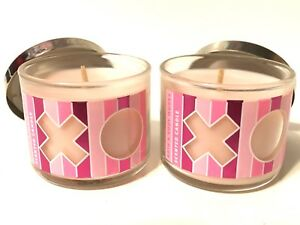 LOT-2-BATH-amp-BODY-WORKS-XOXO-STRAWBERRY-MIMOSA-FILLED-SCENTED-1-3-OZ-MINI-CANDLE