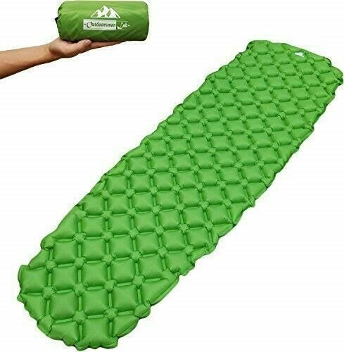 Outdoorsman Lab Inflatable Sleeping Pad – Ultralight  Compact Inflating Pads  convenient