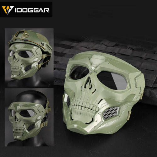 IDOGEAR Tactical Ful Face Mask Skull Mask Cosplay Protective Scary Devil Hunting