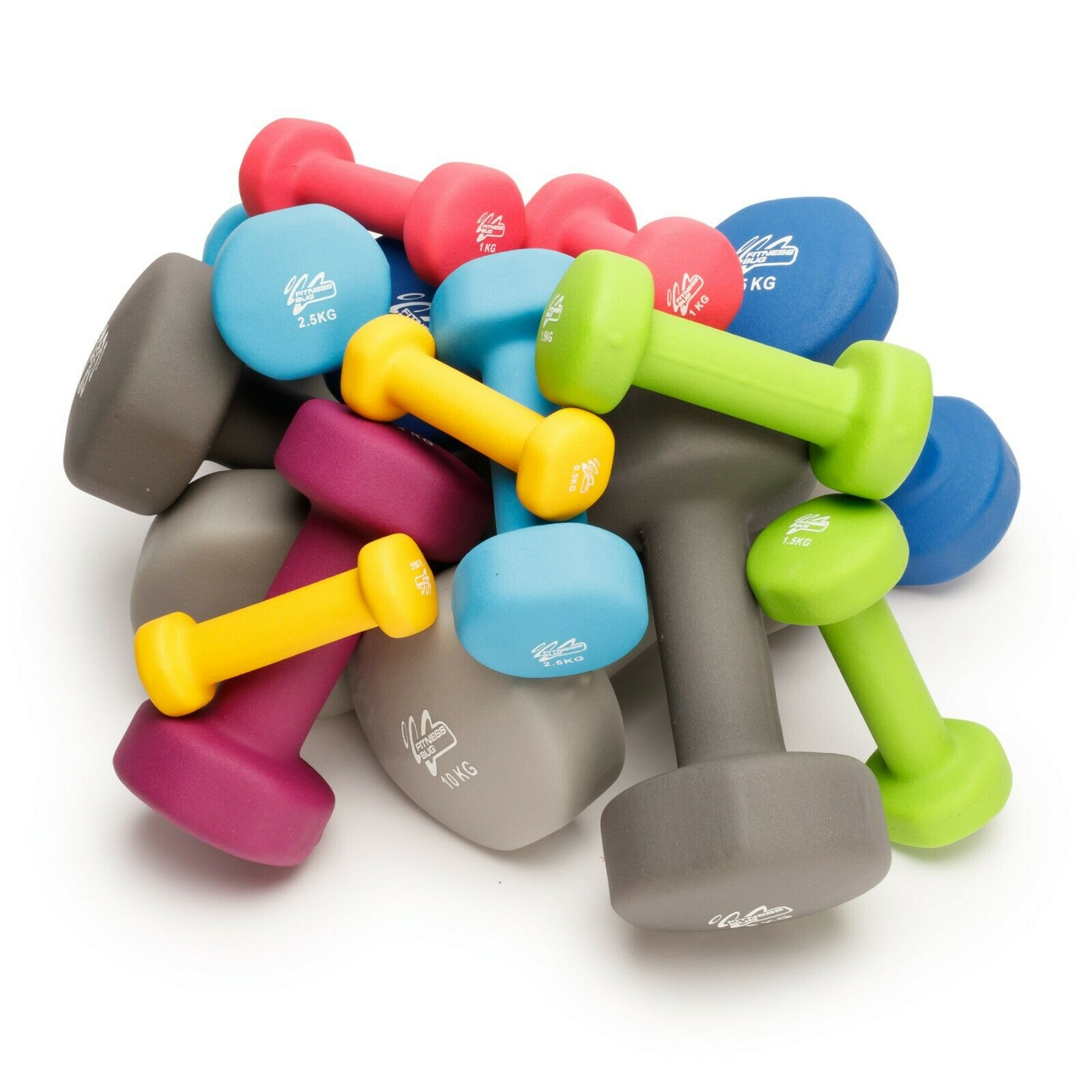 Neoprene Dumbbells Weights Home Gym Fitness Aerobic Exercise Iron Pair Hand From £12.99 @ eBay
