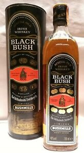 BUSHMILLS-BLACK-BUSH-SPECIAL-OLD-IRISH-WHISKEY-VINTAGE-ANNI-039-80-70-CL