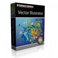 VECTOR ILLUSTRATOR DRAWING SOFTWARE CD. SUPPORTS PAINT EFFECTS, DRAWING, TABLETS