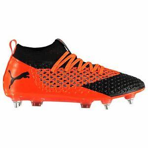 Puma Future 2.2 SG Soft Ground Football Boots Mens Orange Soccer ... 67c71d9034e9b