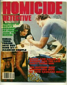 HOMICIDE-DETECTIVE-September-1981-Lurid-True-Crime-Detective-Magazine-1st-ISSUE