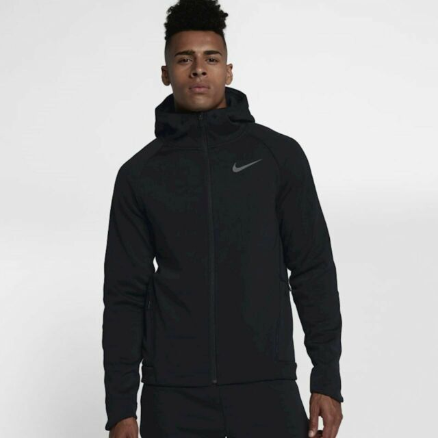 NIKE THERMA SPHERE MAX MEN FULL ZIP TRAINING HOODIE JACKET BLACK 860515 010 M