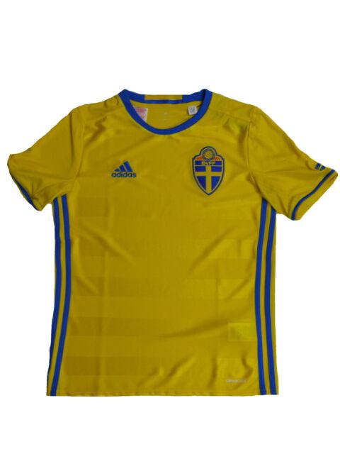 Adidas Mens Sweden Football Team Home Shirt Jersey Kit Top Euro 2016