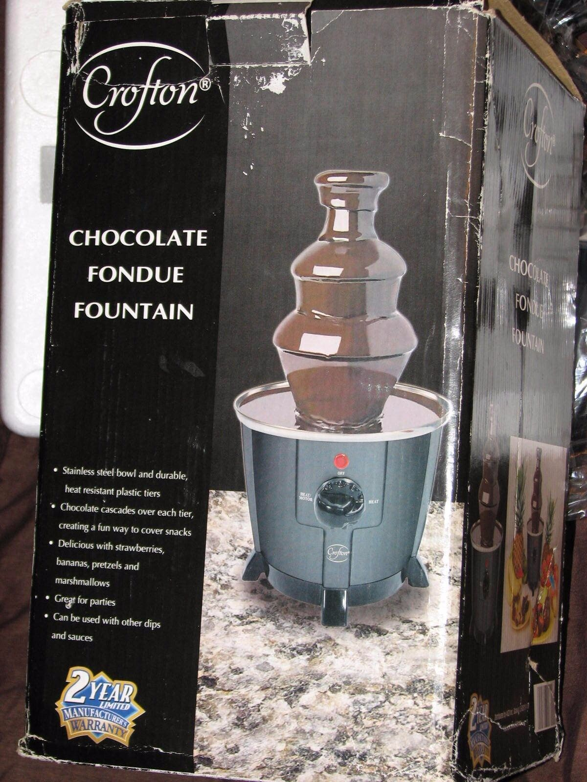 Nouveau Crofton chocolat Dip sauce fondue fontaine échelonné Avec Acier Inoxydable Bol
