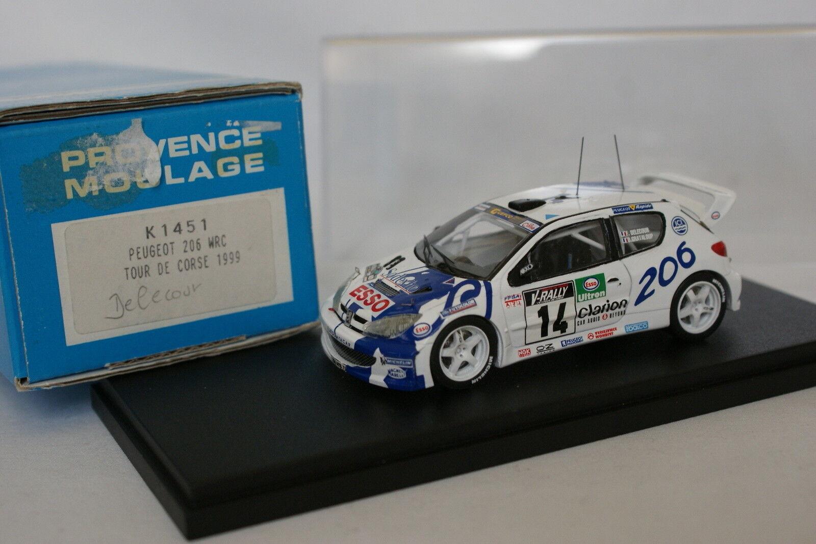 Provence Moulage Kit Montado 1 43 - Peugeot 206 WRC Tour de Córcega 1999 N º 14