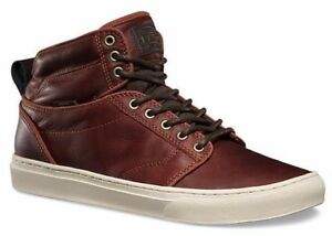 6b839f61ec VANS Alomar + (Leather) Henna Brown Skate Shoes MEN S 6.5 WOMEN S 8 ...