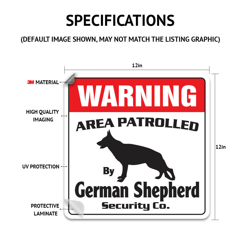 BLACK LABRADOR Security Decal Area Patrolled pet retriever dog lover owner gift