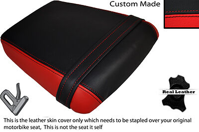 RED /& BLACK CUSTOM FITS APRILIA FUTURA 125 AF 1 90-93 REAR LEATHER SEAT COVER