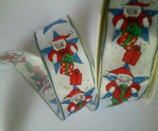 20m Schleifenband 25mm Nikolaus-Motiv.Geschenk zu. Weihnachten Geschenkband