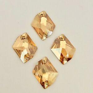 d8b8ddd5c Swarovski Crystal Sew on 6 x Golden Shadow Gold 20 x 16 mm Cosmic ...