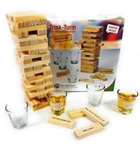 Trinkspiel Partyspiel Wackelturm Drunken Tower Geburtstagsspiel