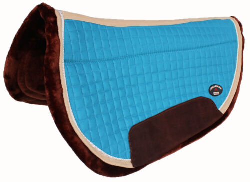 Horse SADDLE PAD Western Close Contact Quilted Barrel Saddle Pad Fleece 39178TR