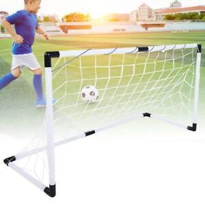 Fussballtor-Set-Tore-Ball-Pumpe-Tor-Fussball-Netz-Torwand-Goal-fuer-Kinder-Neu