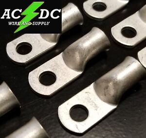 """(1) 1 AWG Ring 5/16"""" Hole Terminal Lug Tin Plated Copper Cable lug Gauge"""