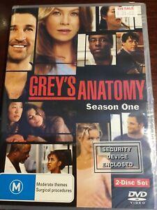 GREY-S-ANATOMY-Season-One-New-Sealed-2-DVDs-R4-PAL