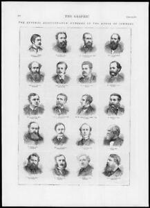 1874-Antique-Print-LONDON-House-Commons-General-Election-Portraits-267