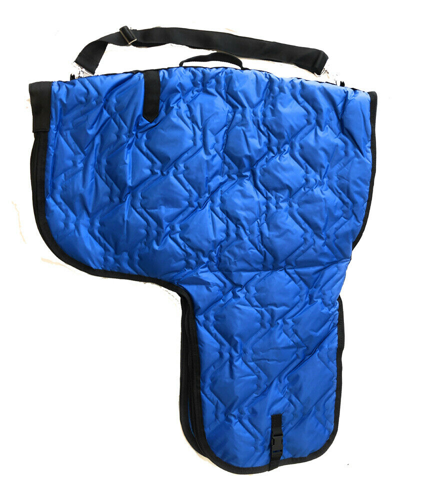 Western Horse Saddle Carrier Cover Bag Large Poly Fill Padded Royal bluee