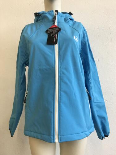 M 10 turquoise // white Ultra Sport Women/'s softshell jacket with hood Estelle