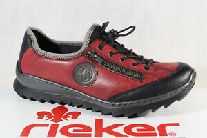 Details about Rieker Slippers Sneakers Low Shoes Trainers Ballerina Red M6289 New