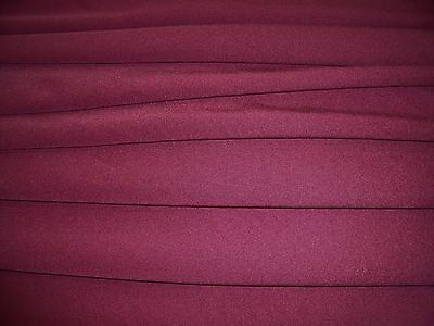HEAVY SCUBA STRETCH JERSEY-CLARET -DRESS FABRIC-FREE P&P