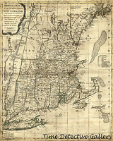 U.s. Revolutionary War seat Of War Map - 1776 - Poster In 5 Sizes