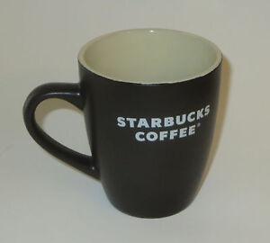 Image Is Loading Starbucks Coffee Cup Mug Black Matte Rare 12