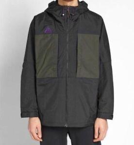 Details about NWT Nike ACG Anorak Jacket AQ2294 010 Sequoia Hood Olive Green Purple Men XL