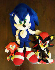 "RARE SEGA 20"" Sonic The Hedgehog Knuckles Keychain 7"" & SHADOW PLUSH"