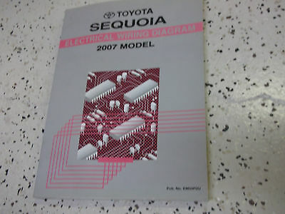 2007 Toyota SEQUOIA Truck Electrical Wiring Diagrams Manual OEM