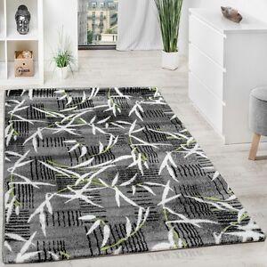 teppich modern wohnzimmerteppich kurzflor grau gr n creme meliert ausverkauf ebay. Black Bedroom Furniture Sets. Home Design Ideas