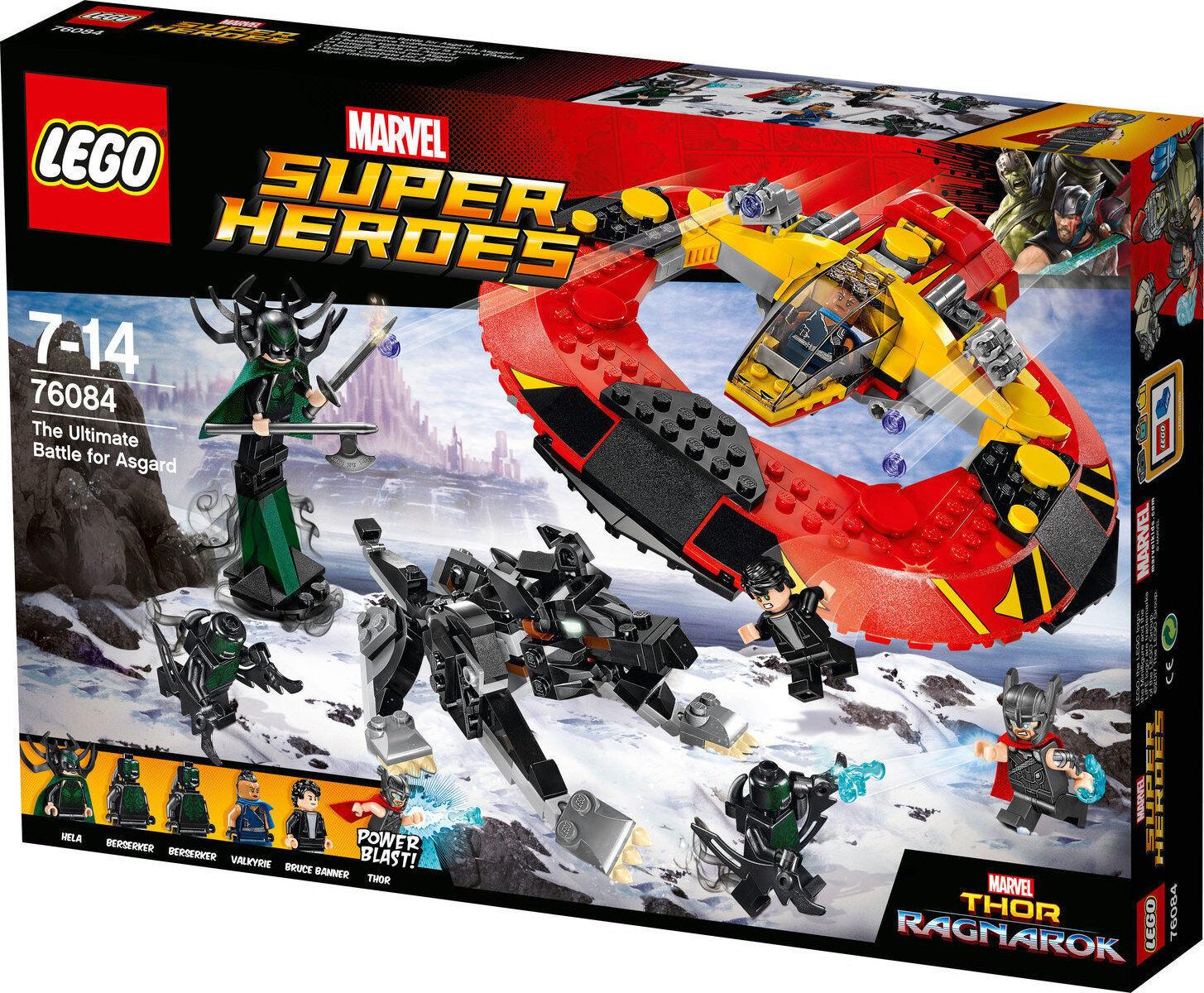 Lego Super Heroes 76084 battaglia finale per Asgard Nuovo Thor Bruce Banner Hela