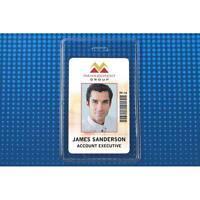 Heavy-duty Clear Vertical Proximity Card Holder (2-5/8 X 3-5/8) - 100pk