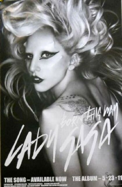 "LADY GAGA BORN THIS WAY 5.23.11 POSTER 14 X 22/"" art poster"