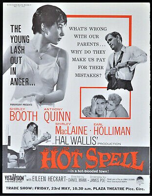 HOT SPELL 1958 Shirley Booth, Anthony Quinn, Shirley Maclaine TRADE ADVERT  | eBay
