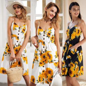 Women-Summer-Boho-Casual-Long-Maxi-Evening-Party-Cocktail-Beach-Dress-Sundress