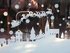 Christmas Santa Window Sticker / Xmas Window Scene Decoration  - Cut to length