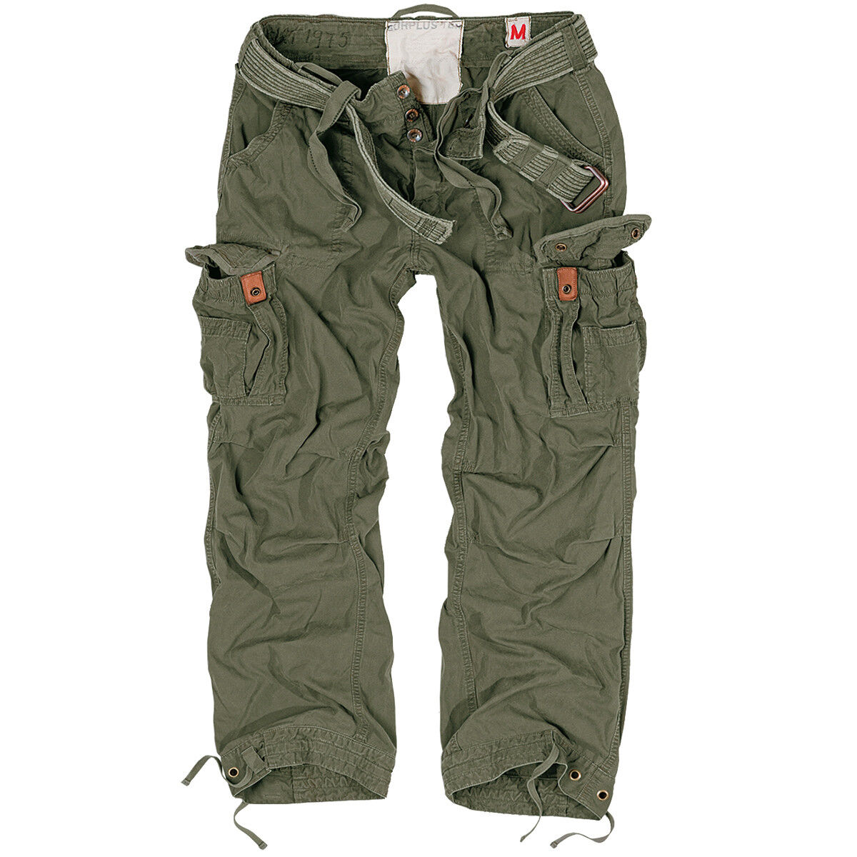 SURPLUS PREMIUM RAW VINTAGE TROUSERS MENS COMBATS WORK PANTS CASUAL CARGOS OLIVE
