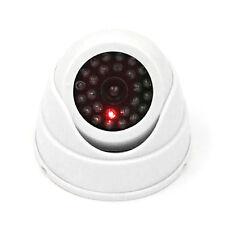 Dummy Fake Surveillance Security Dome Camera Flashing LED Light White  SE
